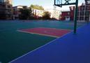 吉林大学附属中学采用悬浮地板建室外篮排球场
