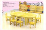 原木八人桌椅组合