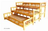 一拖四實木兒童床