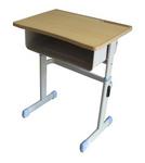 注塑封邊鋼木學生課桌椅升降單人桌椅
