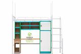 长沙学生宿舍用公寓床给人年轻化、活力实用凯威特学生宿舍家具