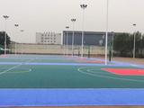 吕梁市中学生运动会悬浮拼装地板篮球场