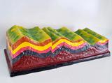 褶皱构造及地貌模型
