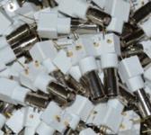 射频同轴连接器 BNC白胶座/BNC座/BNC/Q9/ BNC 同轴连接器 转接头