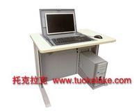 供应学校电脑桌 机房电脑桌 新款电脑桌 翻转电脑桌 多媒体电教室电脑桌