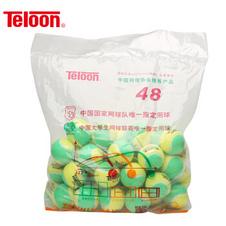 天龙【Teloon】天龙儿童短式网球训练减压网球mid mini 袋装 mid(黄绿色)整袋48个