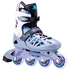 【美洲狮COUGAR】MZS308N 溜冰鞋成人轮滑鞋青少年可调码男女直排滑冰旱冰鞋 欧盟品质 银紫