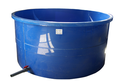 圆形蓝色PP水槽 直径2米