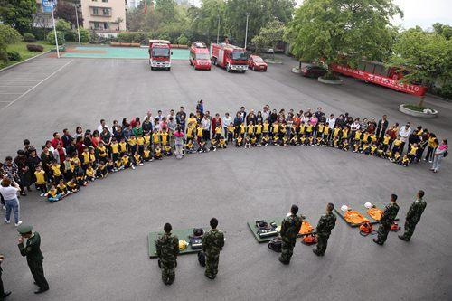 云阳实验幼儿园走进消防大队体验消防生活
