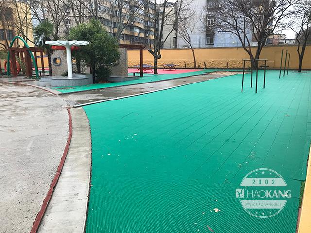 浩康悬浮式拼装地板 室外专用拼装地板 篮球排球地板 通风防滑地板
