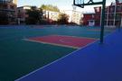 吉林大學附屬中學采用懸浮地板建室外籃排球場