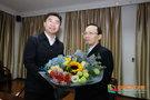 桂林市领导到桂林医学院慰问王兆一、金俊飞博士