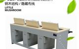 海仕杰钢木翻转电脑桌厂家 钢木培训电脑桌价格 多角度翻转电脑桌批发 供应