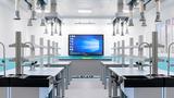 天智廠家直銷化學通風實驗室成套設備 實芯理化板實驗室中央臺