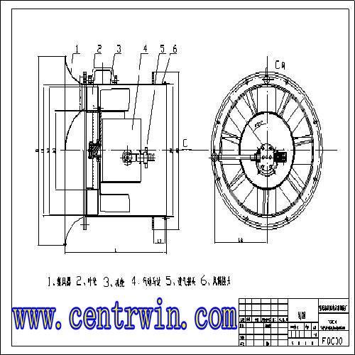 气动抽出式轴流局部通风机 型号:DE/FQC28
